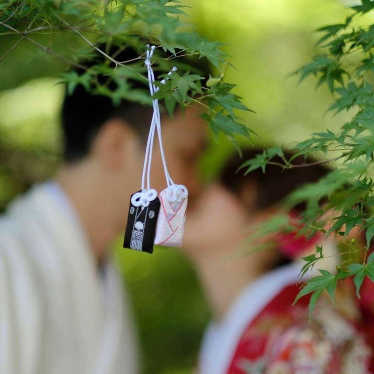 夫婦守りを撮影アイテムに